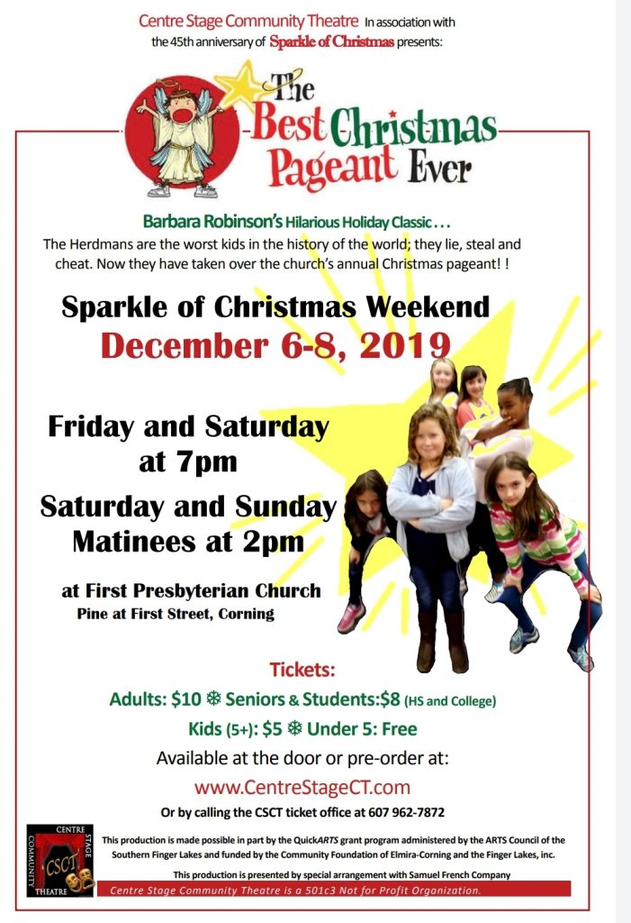 Best Christmas Pageant Ever 2019 Ad Poster